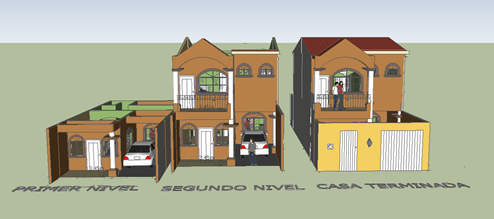 Rubi b r hogares de amor for Una casa di tronchi con garage